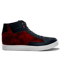 #RedSneakers #Sneakers #MensSneakers #WomensSneakers on idxshoes.com - Streetwear Sneakers for men or women by Mannzie Red Sneakers, High Top Sneakers, Trendy Shoes, Designer Shoes, Streetwear, Leggings, Women, Fashion, Street Outfit