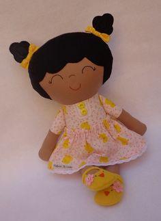 Malú  ethnic brown doll handmade doll cute by dollsfofurasbyleila