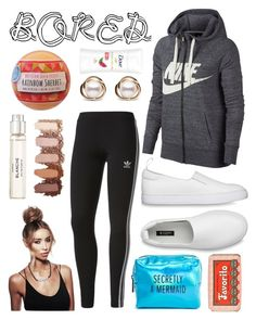 """Bored 🎈"" by kyra-leee on Polyvore featuring NIKE, adidas, Trilogy, Pinch Provisions, Byredo, Fizz & Bubble and Claus Porto"