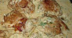 Glamping Baba: Ukrainian Chicken in Cream with Dill ukrainianrecipes Polish Recipes, Meat Recipes, Gourmet Recipes, Chicken Recipes, Cooking Recipes, Healthy Recipes, Polish Food, Dill Recipes, Fun Cooking