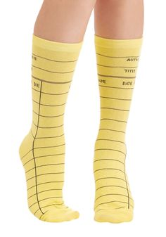 My Calling Card Catalog Socks