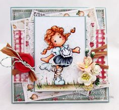 Tilda Longstocking card using Magnolia stamps from Magnolia-licious by Mindy Baxter of StampinMindy http://magnoliastamps.us/store2/312-tilda-longstocking-1/  #cards
