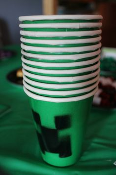 Minecraft Birthday Party Cups