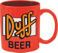 THE SIMPSONS  HOMER SIMPSON  DUFF BEER  BECHER / TASSE 320 ml      Officially licensed Duff Beer ceramic mug  Capacity: 320 ml    Mug (grande tasse) en céramique au décor imprimé haute qualité.  Modèle sous licence officielle Duff Beer.  Contenance 320 ml.    Taza de Duff Beer  Licencia oficial  Material: cerámica  Capacidad: 320 ml