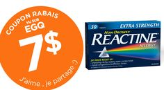7$ DE COUPONS RABAIS REACTINE - ADULTES ET ENFANTS