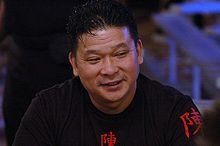 Chan, born in Guangzhou, China in 1957, is a Chinese American professional poker player. He has won 10 World Series of Poker bracelets, including the 1987 and 1988 World Series of Poker main events consecutively.
