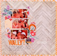 Wally . Scrapbooking layout . Àurea Estellé