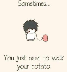 Sometimes you just need to walk your potato.