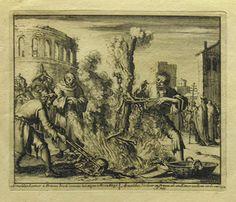 luyken - arnold of brescia burnt as a heretic