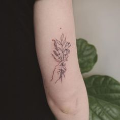 Clean line tattoo - love the style of these flowers/branches #tattoos