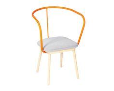 Unique minimal chair design - a perfect dash of orange..