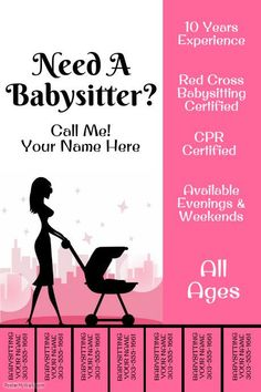 babysitting poster template.html