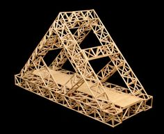 Bridge Building Project The above link will take you to a complete lesson plan for this amazing project. It is a great way to implement all aspects of S. in a project based learning environm… Stem Projects For Kids, Science Projects, Popsicle Bridge, Toothpick Sculpture, Toothpick Crafts, Arch Model, Bridge Model, Popsicle Stick Art, Bridge Design