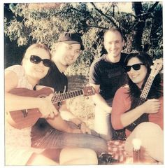 picnic with ukulele and friends