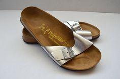 ad09b40756d5 Frauen Papillio Original Birkenstock ein Gurt von Thebestvests Sandalen  Silber, Birkenstock Sandalen, Strandsandalen,