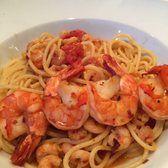 Photo of Spaghetteria La Perla - Copenhagen, Denmark. Spaghetti diavolo - spicy with shrimps and prawns