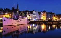 Copenhagen? This is the Shore in Leith. Leith used to be a separate town but was merged with Edinburgh in 1920