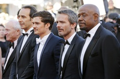 Forest Whitaker, Jerome Salle and Orlando Bloom attend the 'Zulu' Premiere and Closing Ceremony during the 66th Annual Cannes Film Festival at the Palais des Festival in Cannes.