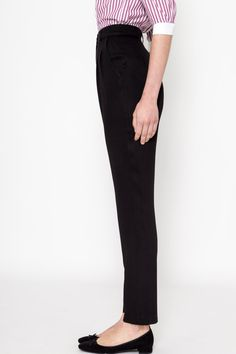 "50% OFF SALE     High waist trousers is Comely Bops most signature pieces. Made of natural materials, all our clothes are handmade in Greece, inspired by old time movies, actresses and jazz dancers from the 30s to 60s as many ""cool"" things were happening back in those days. Our aim is not to replicate clothes of these decades, but to get inspired by this era and create clothes for modern women to wear in their everyday life. Comely Bop is our contemporary take of the vintage elegance…"