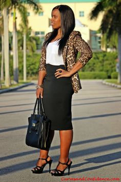 Love the blazer. Different shoes. Curves and Confidence | Inspiring Curvy Women One Outfit At A Time