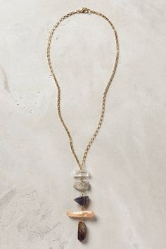 Quartz Ladder Necklace - anthropologie.com