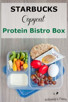Copycay Starbucks Protein Bistro Box. Such and awesome lunch for the kiddos or an after workout protein snack!