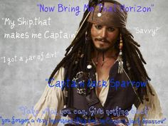 Jack Sparrow quote | Pirates of the Caribbean Captain Jack Sparrow Quotes