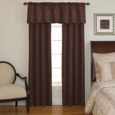 Sound Asleep Room-Darkening Chocolate Curtain Collection