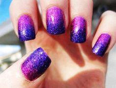 Glamour Purple Ombre Dip Dye Nail Polish 3 Colors