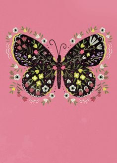 Leading Illustration & Publishing Agency based in London, New York & Marbella. Butterfly Art, Butterfly Pattern, Butterflies, Happt Birthday, Daisy, Spring Wallpaper, Bible Art, Paint Party, Creative Crafts