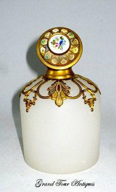 Palais Royal White Opaline Glass Perfume Bottle