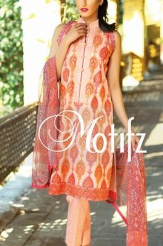 Light Peach Embroidered Cotton Lawn Salwar Kameez