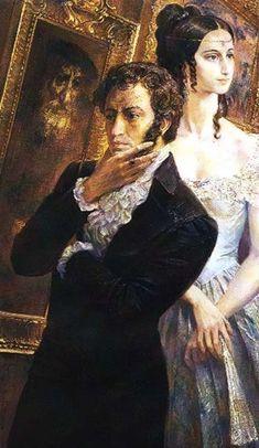 Alexander Pushkin and Natalia Goncharova