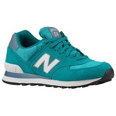 new balance leather 574 Green