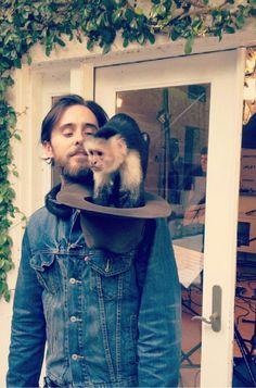 Jared Leto and monkey