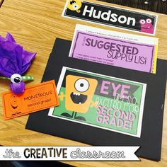 Monster Theme Classroom Reveal - The Creative Classroom 2nd Grade Classroom, New Classroom, Classroom Setup, Classroom Design, Kindergarten Classroom, Classroom Activities, Classroom Organization, Disney Classroom, Classroom Management