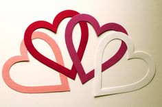 Paper hearts chain