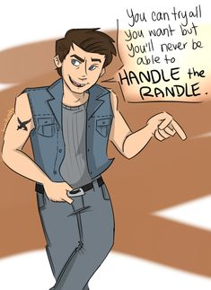 the Outsiders: Steve Randle by lewisrockets. I'm dying.