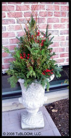 Idea for autumn garden urn Mums fall leaves flowering #1: dd42da8fc3ad833f f2