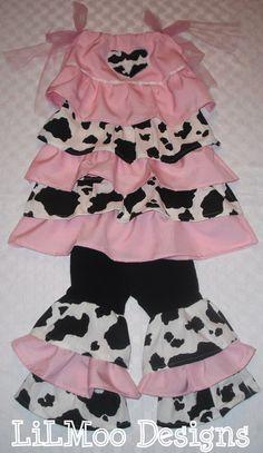 BOUTIQUE Custom LiLMoo 2 T Pink CoW Girl by LittleMissMaddiMoo, $25.99