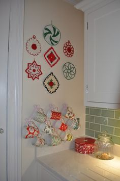 Christmas Pot Holders & Christmas Mugs