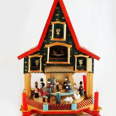 Vintage German Christmas carrousel house