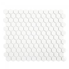 Honeycomb Gloss White Mosaic Tile - The Blue Space White Mosaic Tiles, Glass Mosaic Tiles, Blue Space, Tiles Online, Building Materials, Honeycomb, Wall, Bathroom Tiling, Bathrooms