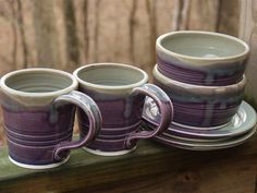 Pretty purple pottery!  Wish we had this colour!