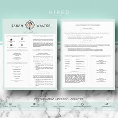 modern resume template for ms word sarah - Sample Professional Resume Templates