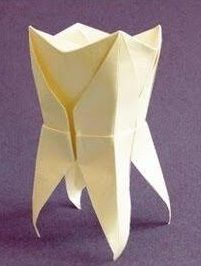 Origami Tooth - Geoff Skinner Origami Tooth, Dentist Jokes, Dentistry, Paper Art, Dental, Table Lamp, Home Decor, Papercraft, Table Lamps