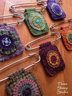 Penny Pins by Rose Clay at Three Sheep Studio                                                                                                                                                                                 More