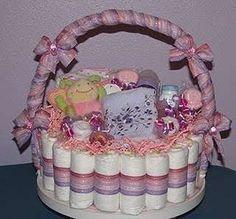 Decoración,+animación+y+torta+de+pañales+para+baby+shower