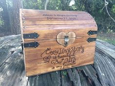 Large Shabby Chic and Rustic Wooden Card Box - Rustic Wedding Decor - Wedding Card Box - Rustic Wedding Card Box - Program Box
