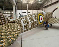 Een vliegtuig maken van eierdozen; Iets om de paasdagen mee door te komen??
